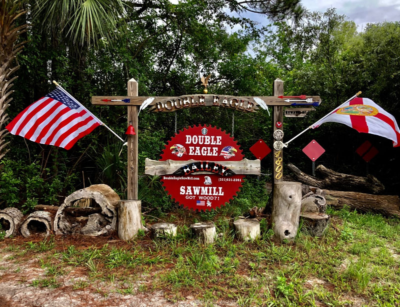 Double Eagle Saw Mill Got Wood?! We Do! West Cocoa, Florida - Home